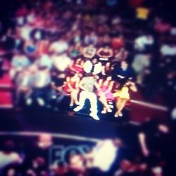 Selena & Justin at TCAS 2012