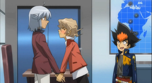 Shinobu, holding Tsubasa's hands