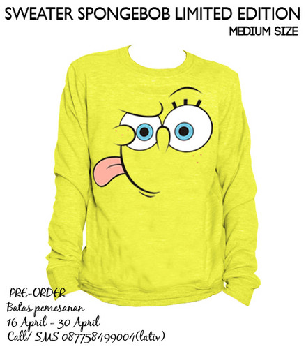Spongebob Sweater (Medium) Ready Stock