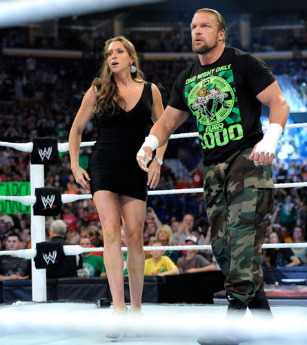 Triple H and Stephanie Mcmahon images Stephanie and Triple H HD wallpaper and background photos