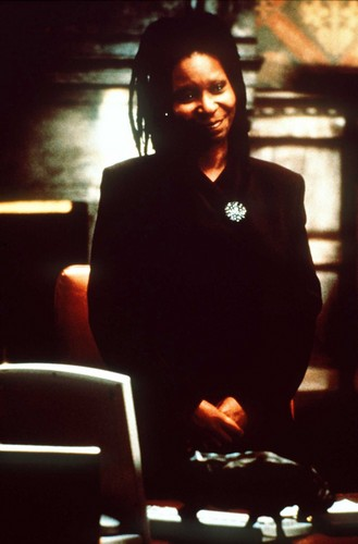 Whoopi Goldberg wallpaper possibly containing a brasserie, a laptop, and a dinner table entitled The Associate