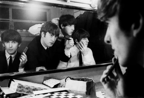 The Beatles in Coventry Theatre, preparing for 1 of 33 concert. As part of their Autumn Tour, 1963