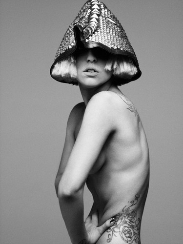 lady gaga wallpaper probably containing a boater entitled The Fame monster photoshoot outtake por Hedi Slimane