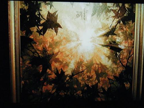 Thomas Kinkade's Christmas Cottage wallpaper titled The Last Leaf/Ultimum Folium