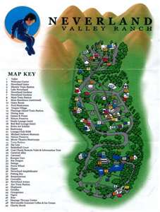 The Official Map Of Neverland Ranch