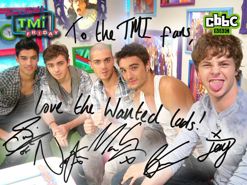 The Wanted AUTOGRAPH !!!!