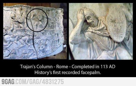 The first facepalm in history