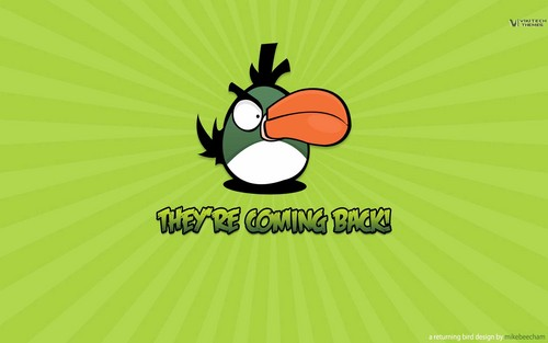 Angry Birds wallpaper containing anime called They're Coming Back!