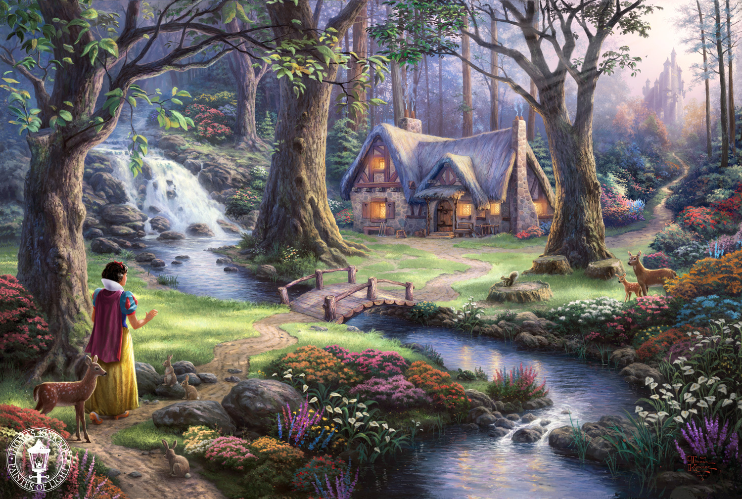 Disney princess thomas kinkade &;disney dreams&;