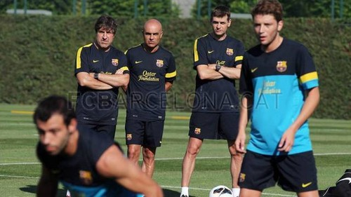 Tito's first training session