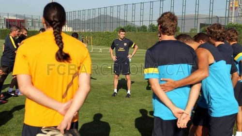 Tito's first training session - fc-barcelona Photo
