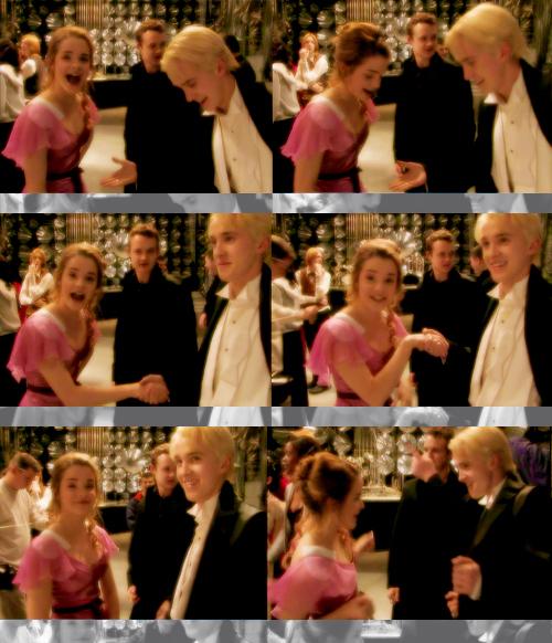 Tom felton and emma watson dancing