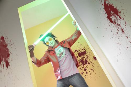 Travis no 더 많이 히어로즈 cosplay 의해 Jack Daniel