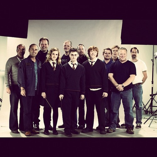 Trio and and the Harry Potter crew