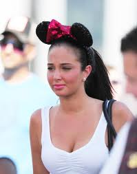Tulisa Contostavlos Minnie Ears - disney Photo