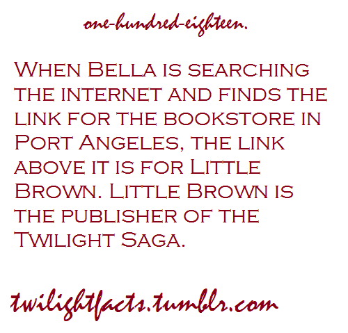 Twilight facts 101-120