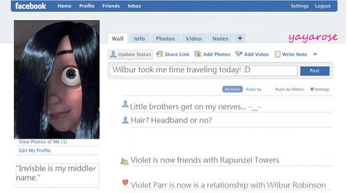Violet's facebook perfil