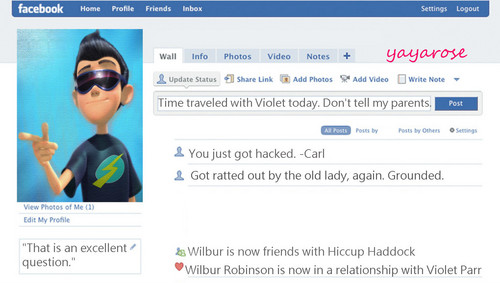 Wilbur's Facebook Profile