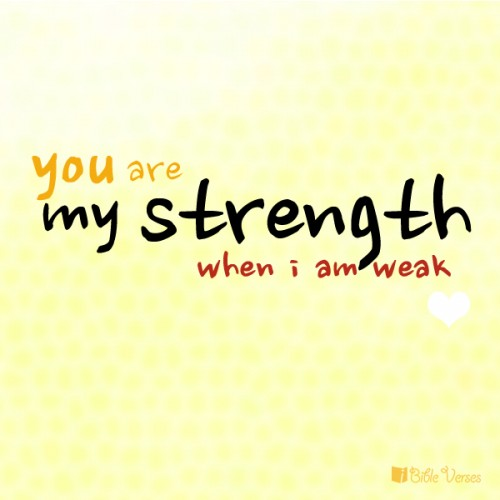wewe Are My Strength