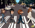 abbey road scetch - the-beatles photo