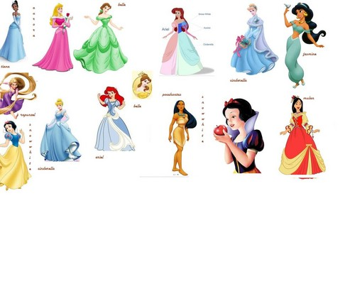 all at once - disney-princess Fan Art