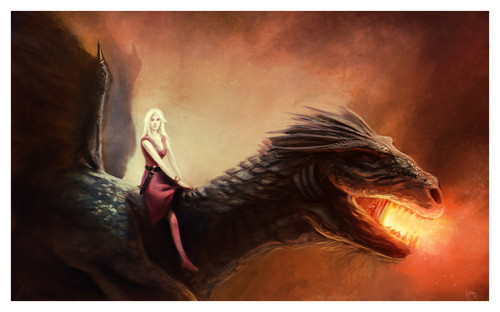 A Song of Ice and Fire wallpaper entitled Daenerys Targaryen & Drogon