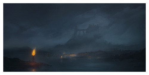 A Song of Ice and Fire wallpaper containing a sunset and a cloud called Lannisport
