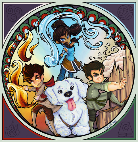 cute Korra and friends - avatar-the-legend-of-korra Photo