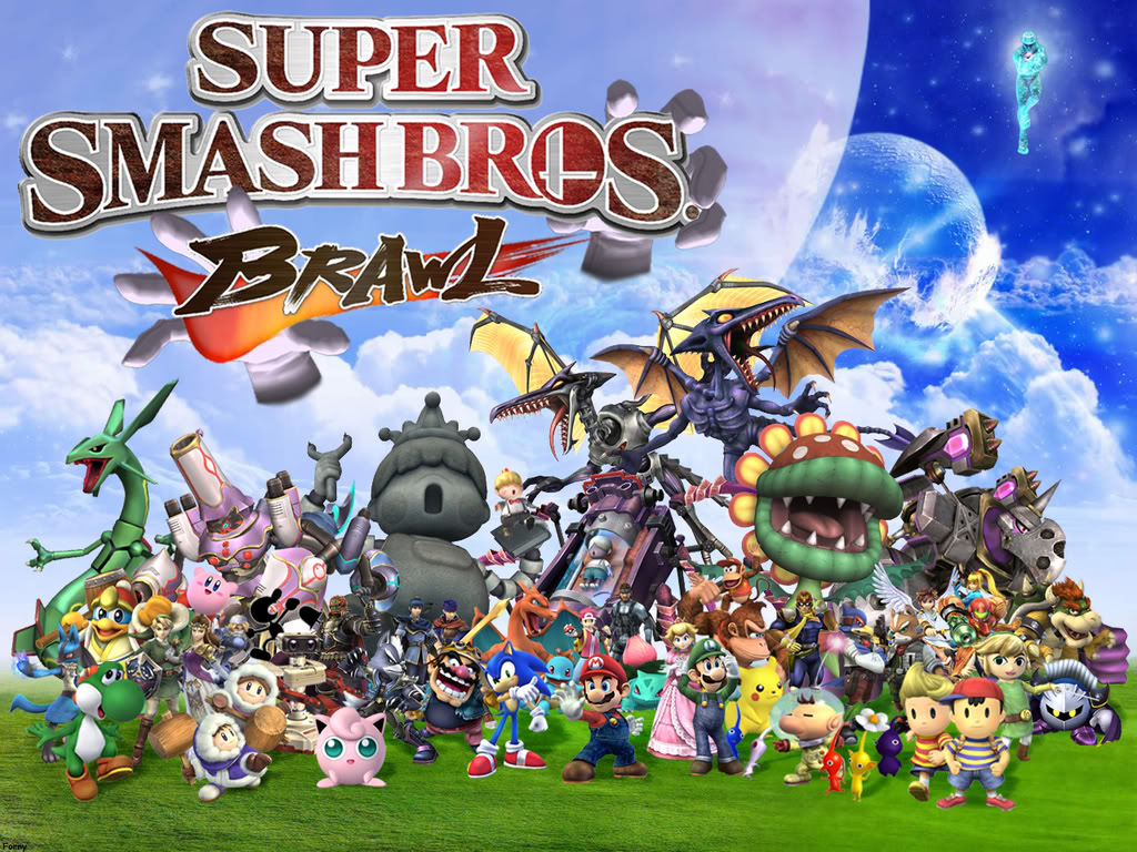 Super Smash Bros. Brawl everyone in super smash bros brawl