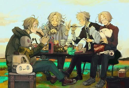 hetalia fondo de pantalla called face family