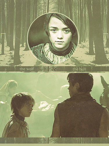 Arya & Gendry - game-of-thrones Fan Art