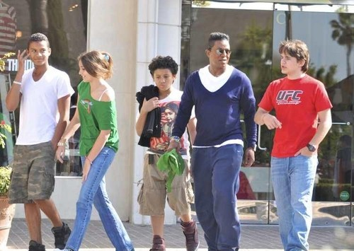 jaafar, paris, jermajesty, jermaine and prince out in town in calabasas