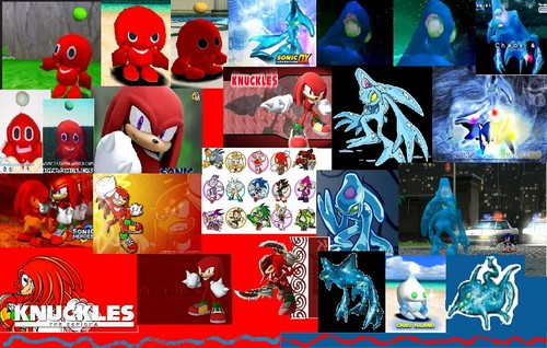 knux print poster bit chaos - sonic-the-hedgehog Photo