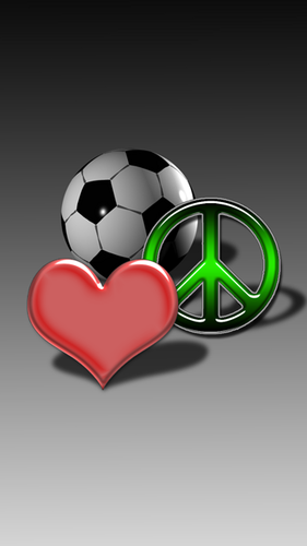 love, piece and soccer;) - random Photo