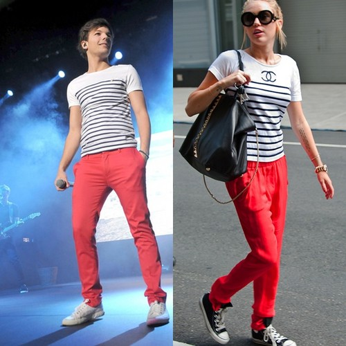 miley with louis tomlinson style