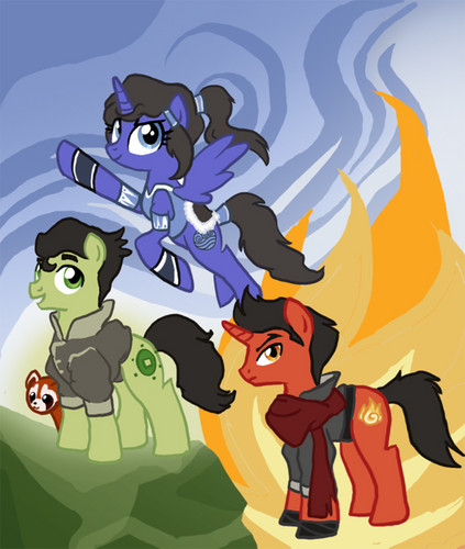 my little poni, pony Korra, Mako and Bolin