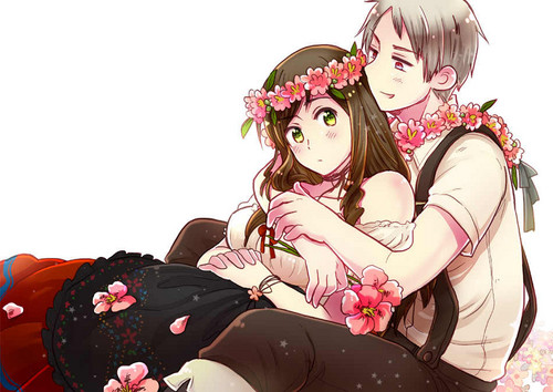 Hetalia fond d'écran with a bouquet called o.O Looks like an official art