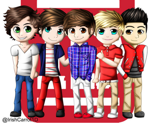 One Direction wallpaper probably containing anime titled one direction cartoon