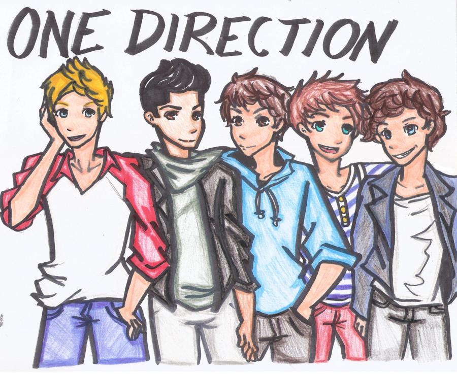 one direction cartoon One Direction Fan Art (31590843) Fanpop