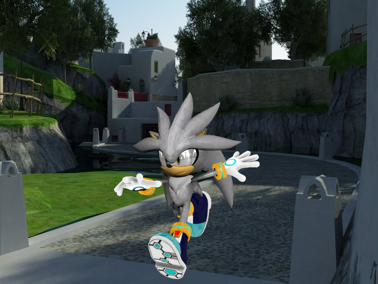 Silver the Hedgehog silver 3d model