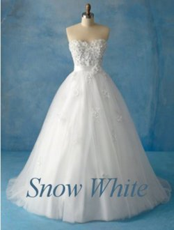 snow white wedding dress - disney-princess Photo