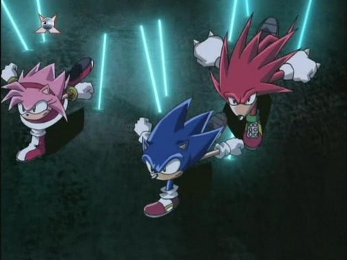 sonic, amy, and knuckles