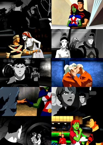 Young Justice Hintergrund probably with Anime entitled superboy and miss martian