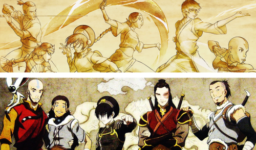 Awatara - ang Huling Airbender wolpeyper probably containing anime called the best team awatara
