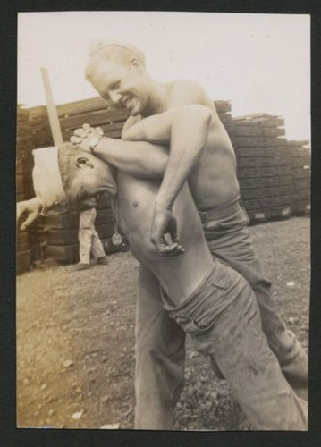 sailors wrestling - vintage-beefcake Photo