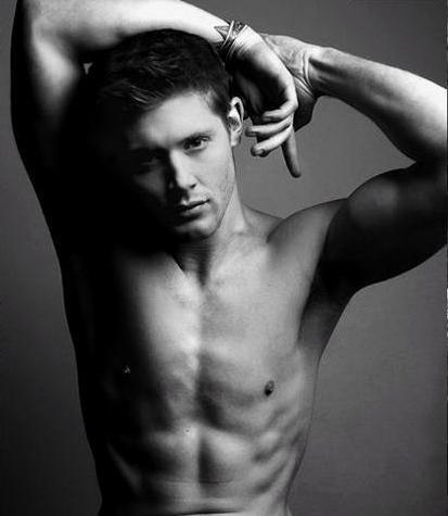Jensen Ackles wallpaper containing a hunk and skin titled yum