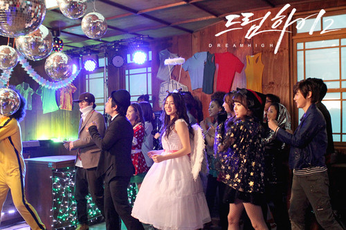 Dream High 2 wallpaper probably with a street, a bridesmaid, and a diner titled  Behind The Scene Dream High 2 - Part 2