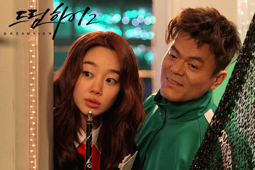 Dream High 2 wallpaper probably with a street, a sign, and a portrait called  Behind The Scene Dream High 2 - Part 2