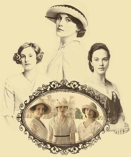 Downton Abbey karatasi la kupamba ukuta titled Downton Abbey