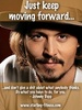 'Just keep moving forward...' - johnny-depp Icon